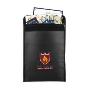 MoKo Fireproof Document Storage Bag with Money Bag