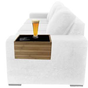 NORD EAGLE Bamboo Sofa Arm Tray Table Arm Rest Protector