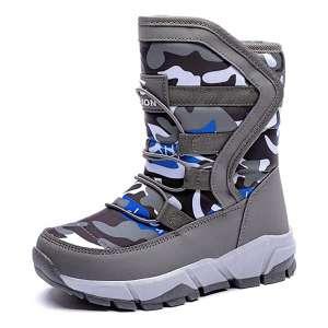 BODATU Boys Snow Boots Outdoor Waterproof