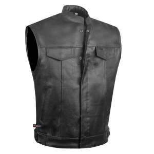 Jackets 4 Bikes SOA Men's Leather Club Vest