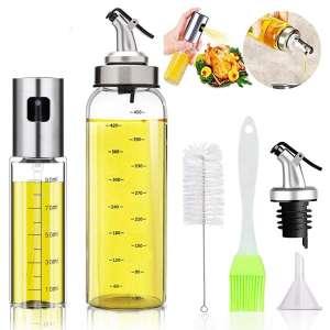 LINALL Oil Bottle Olive Oil 17 Oz Oil Sprayers