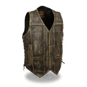 Milwaukee Leather 10 Pocket Vest for Men