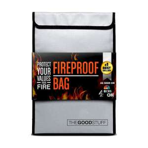 The Good Stuff Fireproof Document Storage Bag with Waterproof Coating for Protection