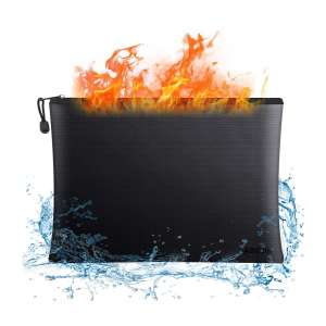 ABC Life Fireproof Document Storage Bag with 15 x 11 Inch Large Capacity