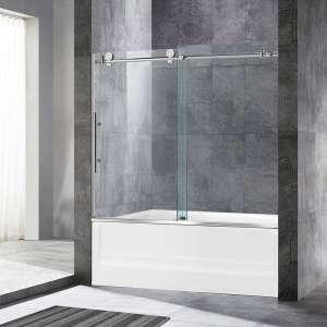 WOODBRIDGE Frameless Shower Doors, Brushed Nickel