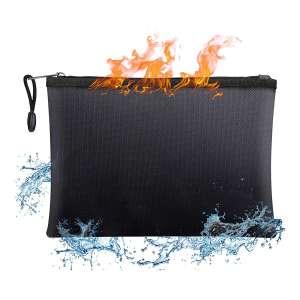 BluePower 15 x 11 Inch Large Waterproof Fireproof Money Bag