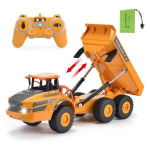 DOUBLE E Volvo RC Truck Dump with Rechargeable Battery