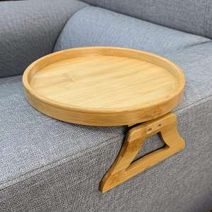 F&T Side Tables Natural Bamboo Sofa Armrest