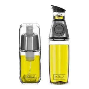 DWELLZA KITCHEN Olive Oil Dispenser Bottle Sprayers 6 Oz and 17 Oz