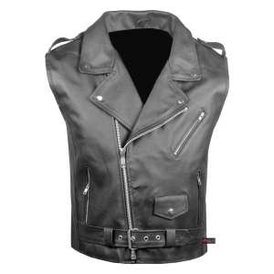 Jackets 4 Bikes Men's Classic Leather Motorcycle Carry Vintage Vest