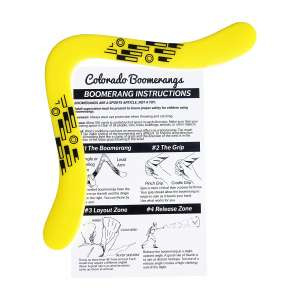 Yellow Tech Boomerang – Right-Handed