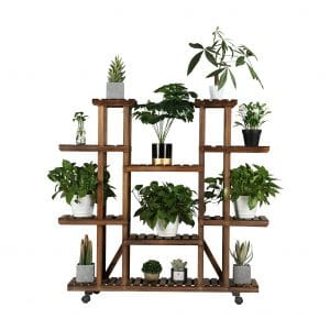 YAHEETECH Plant Stand with Wheels - 6 Tier