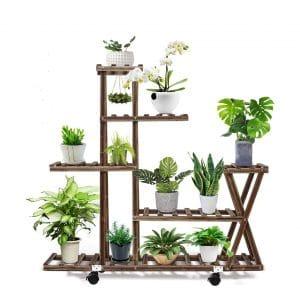 cmfour Wood Plant Stand, Multi-tier Design