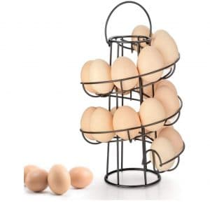 OBVIS Spiral Egg Skelter Dispenser Rack