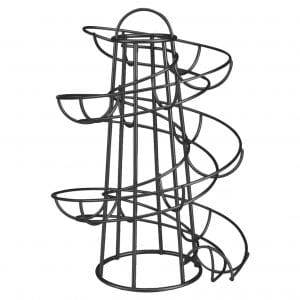 Flexzion Egg Skelter Freestanding Wire Chicken Egg Storage Organizer