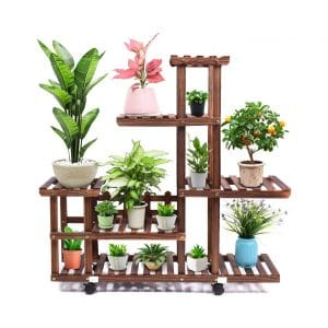 cfmour Wood Plant Stand (11-13 Flowerpots)