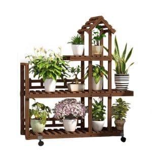 RomanticDesign Plant Stand w/Wheels