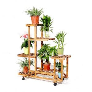 unho Wooden Plant Stand for Patio, living room and Balcony