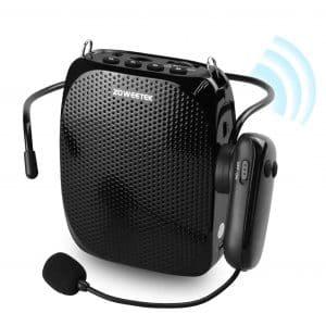 ZOWEETEK Voice Amplifier 10W 1800mAh with Wireless Microphone Headset