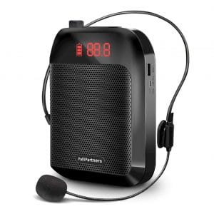 PalliPartners Portable Voice Amplifier 35W 3600mAh with Wired Microphone