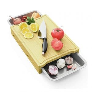 MIUTME Cutting Board with Tray