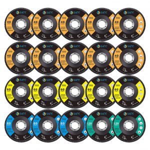 S SATC 20 Pack 4.5 x 7:8 Inches High Density Grinding Wheels