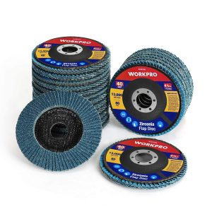 WORKPRO Flap Discs 4.5 Inches 20 Pack Abrasive Grinding Wheel