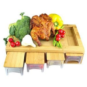 IFELES Chopping board with juice grooves