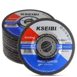 KSEIBI 4.5 Inches by ¼ Inches 10 Pack Center Grind Wheel