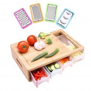 HIOHI Cutting Board with Tray