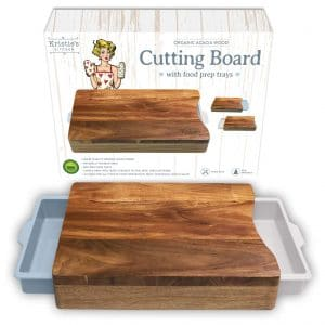 Kristie's Kitchen Organic Acacia Wood Cutting Boards
