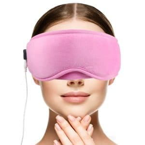 DUKUSEEK Heated Eye Mask with Temperature and Timer Control