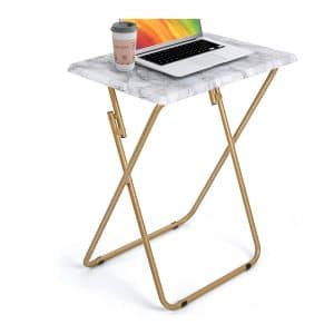 HUANUO Stable Tray Table with No Assembly Required