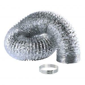 Syurund HVAC Ventilation Aluminum Air Ducting 4 Inch x 8 Feet Vent Hose