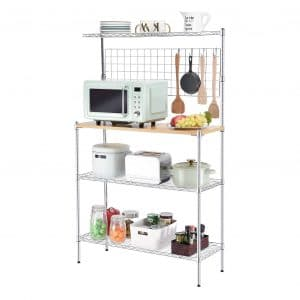 TOOLF Standing Baker's Rack with Wood Table