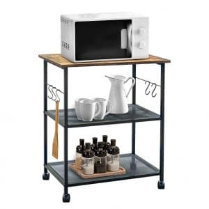 FoverOne 3-Tier Utility Cart with 5 Side Hooks