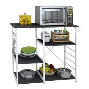 SDHYL Microwave Rack for Kitchen (Black)