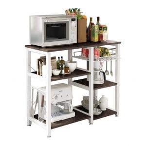 Soges 3-Tier Utility Microwave Storage Cart, W5s-B