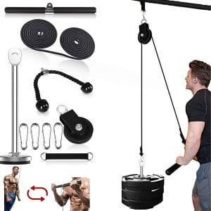 Fitness LAT and Lift Pulley Systems Professional Pulleys Cable Machine Muscle Strength Fitness Equipment for Biceps Curl, Triceps Extensions Workout