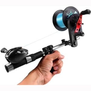 QualyQualy Fishing Line Spooler Winder with Unwinding Function Portable Fishing Line Remover Machine Fishing line Spooling Station