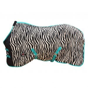"Challenger Horsewear Zebra 4340 78"" Fleece Cooler"