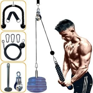 LAT Pull Down Machine pulley pro- Pulley system gym for Workout-new Pulley Cable System for your ultimate Home Gym System this weight pulley system