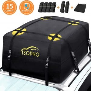 ISOPHO 15-Cubic ft Excellent Military Quality Heavy-Duty Rooftop Cargo Carrier, for all Car