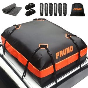 FRUNO 15-Cubic Feet Waterproof Rooftop Cargo Carrier for all cars