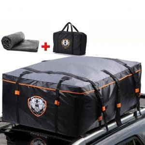 SUNER POWER Waterproof Heavy Duty 19-Cubic Feet PRO Rooftop Cargo Carrier for All Car